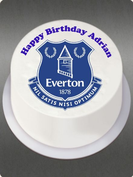 Everton (White Background) Edible Cake Topper